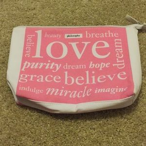 Philosophy makeup bag